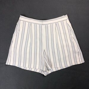NWT Ann Taylor White Striped Flounce Dressy Shorts